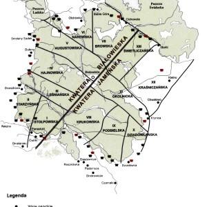 Podział administracyjny Puszczy Białowieskiej na przełomie XVIII i XIX wieku