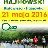 Półmaraton Hajnowski - plakat 2016, fot. Klaudia Formejster