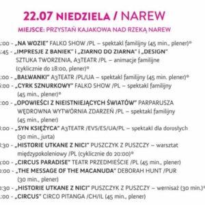 Program 22 lipca Narew